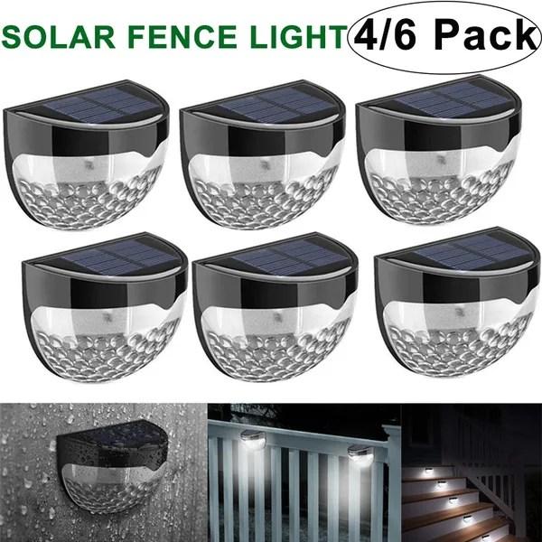 2 4 6 pack solar fence lights decorative lights led garden lights waterproof solar lights wireless outdoor lights for patio fence yard garden