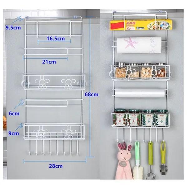 white kitchen multifunction refrigerator storage rack organizer shelf space saver fridge side wall storage shelf holder wish