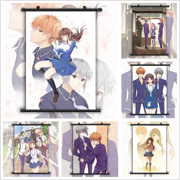 fruits basket anime hd print wall art poster scroll home decoration wish