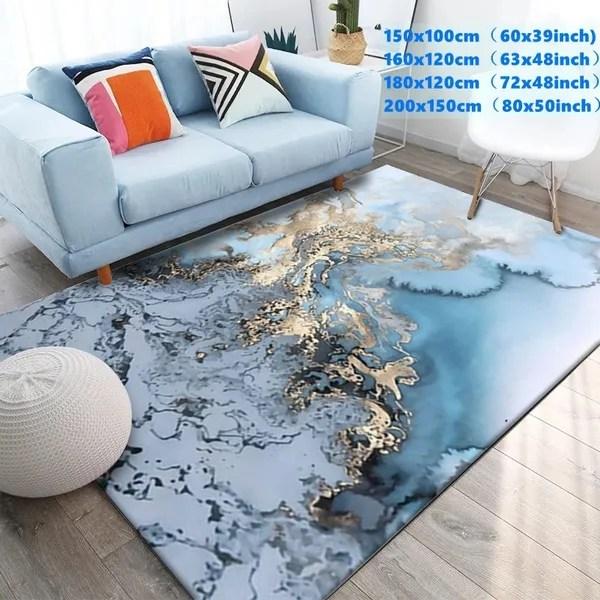 black white marble printed large carpet for living room anti slip sofa tatami floor mat table rug kilim tapis salon tapis salon wish