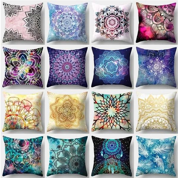 colorful mandala pillowcases microfiber cushion cover sofa pillow covers bedding home decor 45 cm 45cm wish