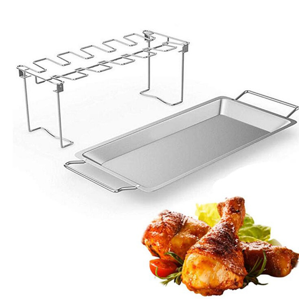 chicken wing and leg rack stainless steel chicken leg grill rack chicken drumstick roaster for oven grill wish