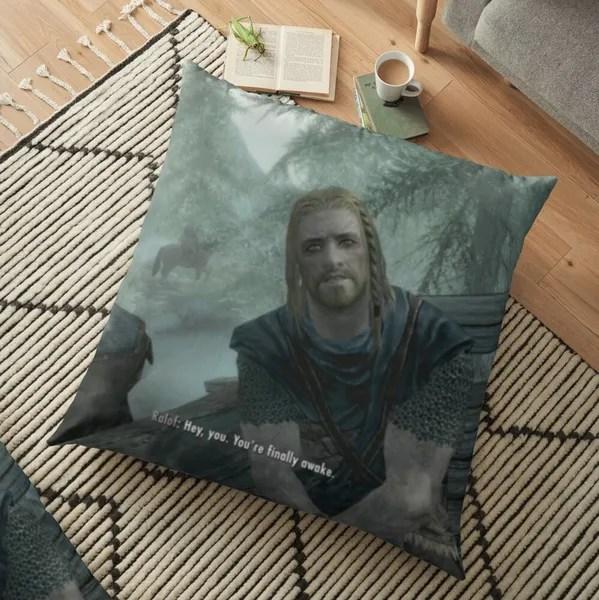 you re finally awake skyrim sofa bed home decor pillow case cushion cover gifts wish