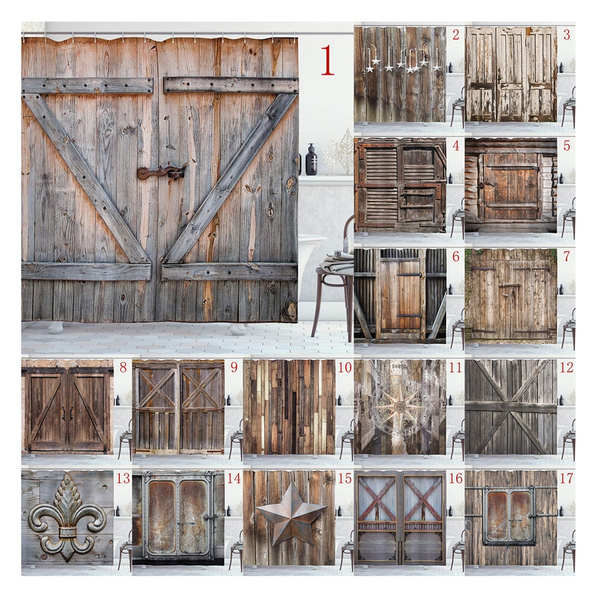 rustic shower curtain old wooden barn door of farmhouse oak countryside village board rural life photo print bathroom decoration shower curtains
