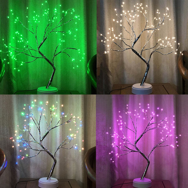 battery operated bonsai tree lights 108 led for indoor decor tabletop bedroom wedding home decor wish