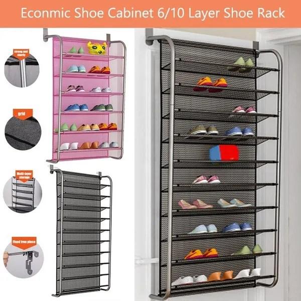 shoe rack over door hanging shoe rack shoes organizer wall mounted multi functional shoe hanging shelf multi layer household economic shoe cabinet