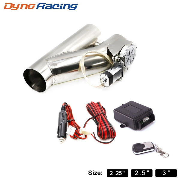 2 25inch 2 5inch 3inch exhaust control valve exhaust pipe electric y pipe electrical exhaust cutout kit with hand wire wish