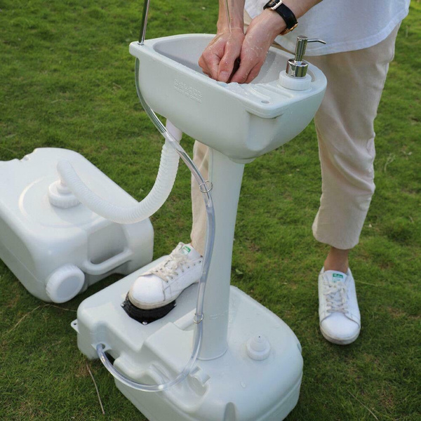 new portable camping sink outdoor hand wash basin stand with 24l recovery tank wish