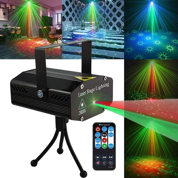mini laser stage lighting strobe lights for party disco lights indoor show projector led wish