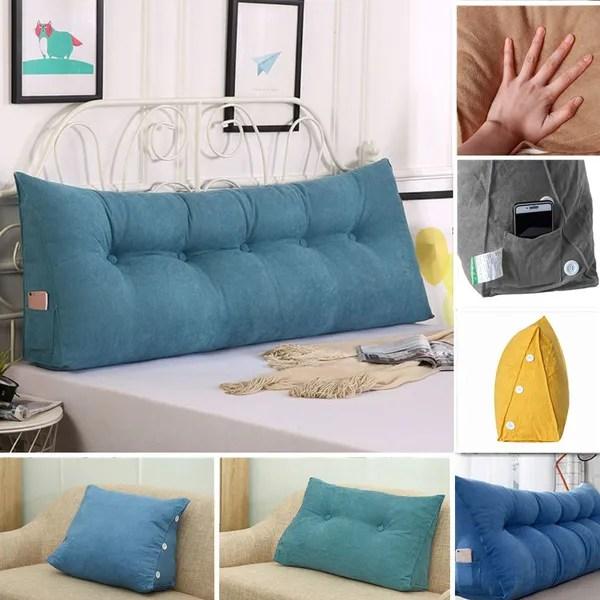 24 32 39inch long bedside cushion triangular bedside big pillow large backrest soft bed backrest soft bed headrest long pillow wish
