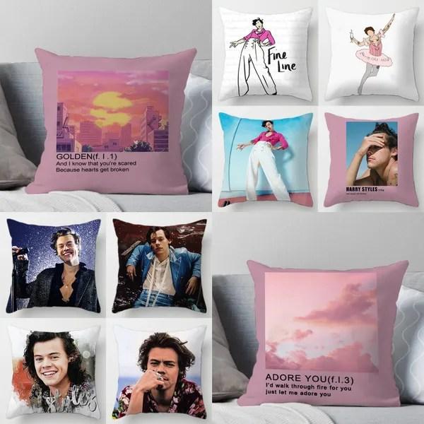 harry styles patrtern pillow sofa car bed sofa pillow case bedroom decoration cushion cover love on tour harry styles fine line funda de almohada