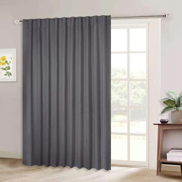 hot sliding door curtains wide thermal blackout patio door curtain panel vertical blind sliding glass door drapes draperies with back tab rod