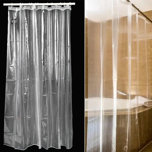 peva waterproof shower curtain transparent plastic bathroom door curtain wish