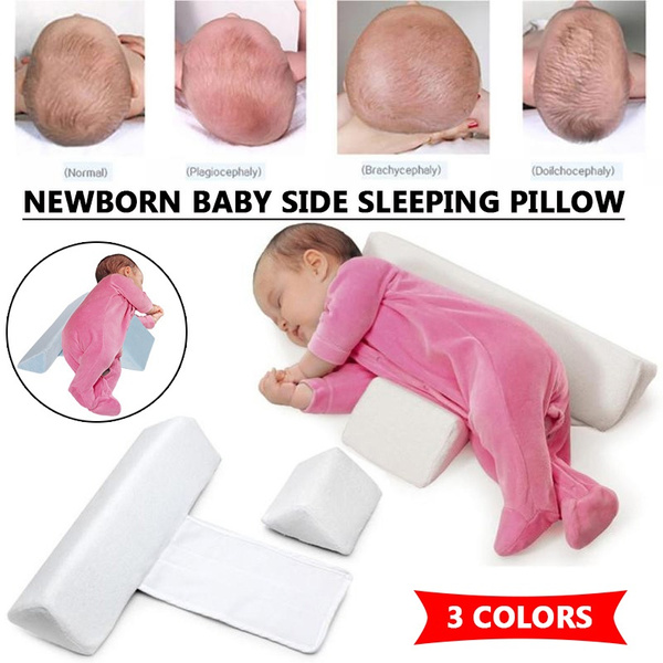 2020 newborn baby shaping styling pillow anti rollover side sleeping pillow triangle infant baby positioning pillow for 0 6 months 2 style wish
