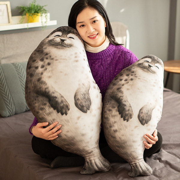 super adorable chubby seal pillow stuffed cotton plush animal toy seal pillow soft fat pillow stuffed cotton animal seal plush toy new trending as