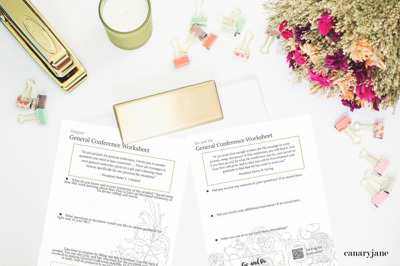 Free Printable General Conference Worksheets
