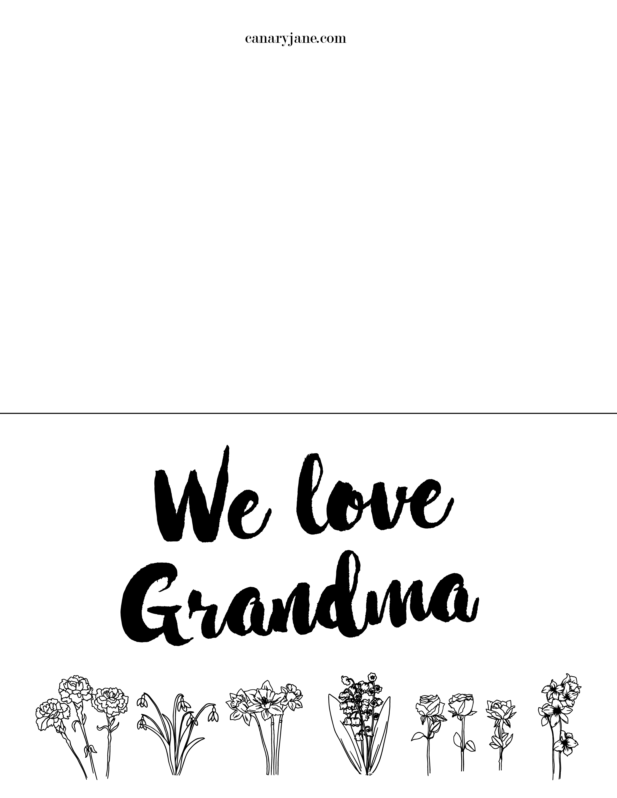 Free Printable Coloring Pages for Mothers Day and Grandma