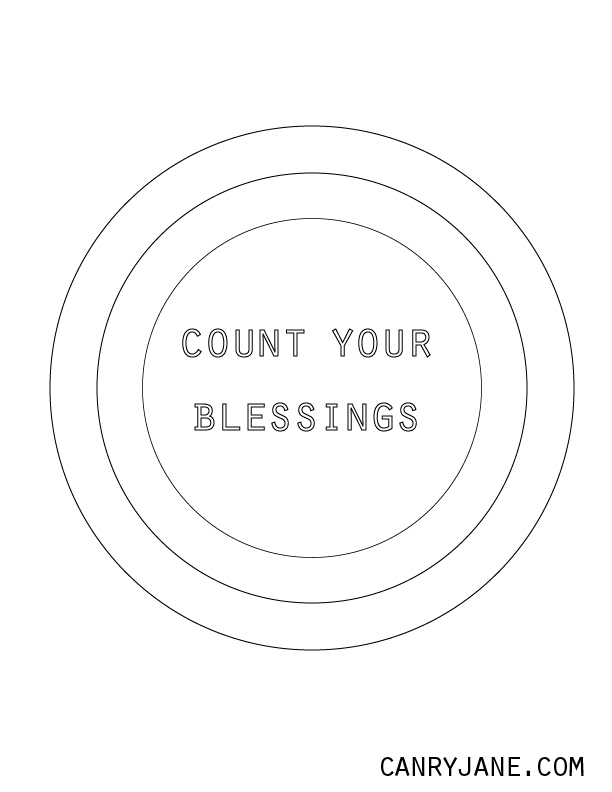 Count Your Blessings Coloring Page Sketch Coloring Page