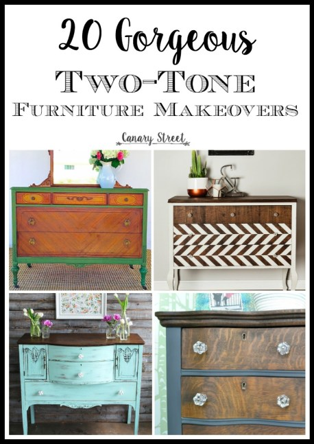 20 gorgeous two-tone furniture makeovers