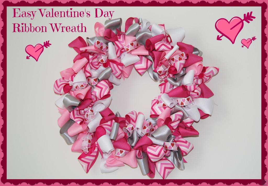 This Valentine's Day ribbon wreath is so easy to make!  If you can tie a bow, you can make this crafts.  {Canary Street Crafts}