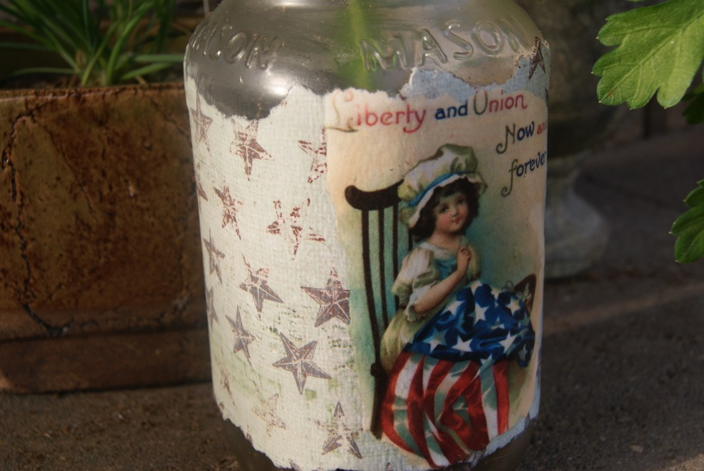 DIY Patriotic Mason Jar - Canary Street Crafts