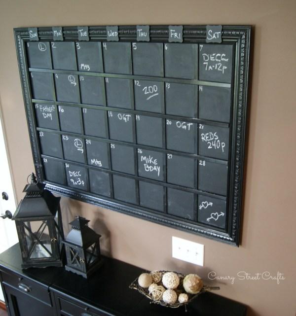 DIY Large Chalkboard Calendar - Canary Street Crafts