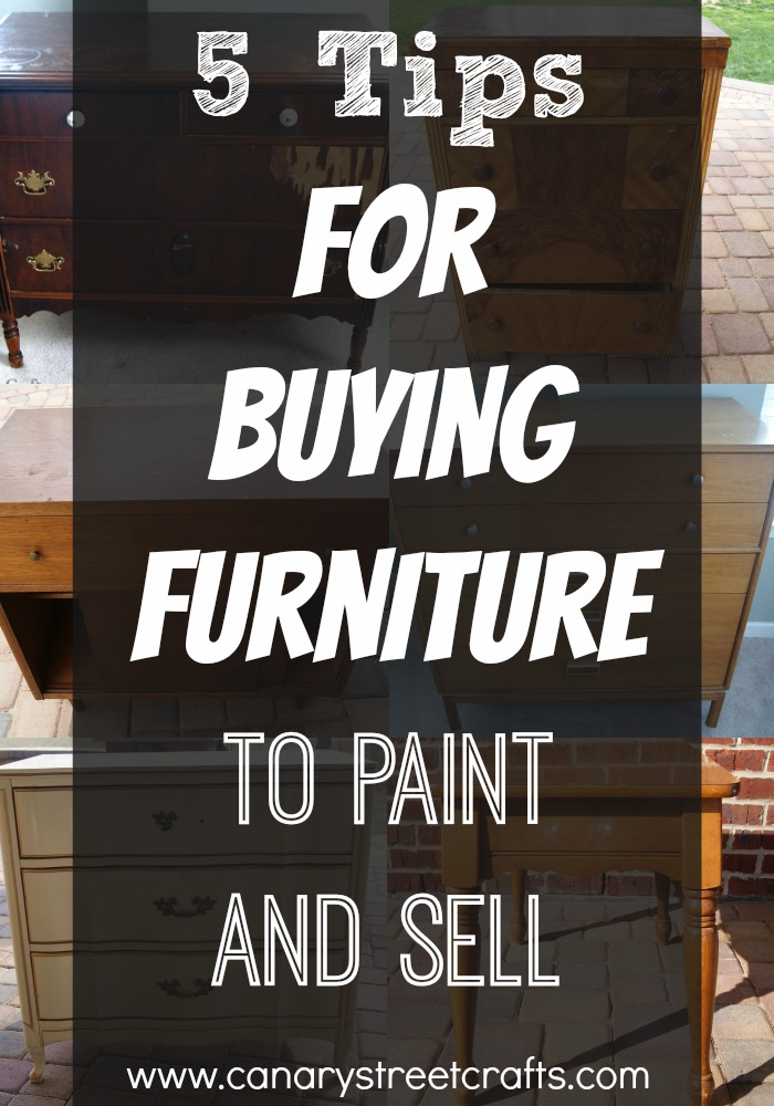 Great Tips For Anyone Who Is Interested In Buying Used Furniture To Paint  And Resell For