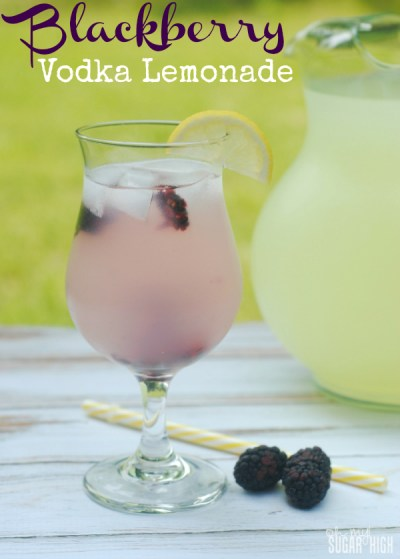 Blackberry-Vodka-Lemonade {Oh My Sugar High}