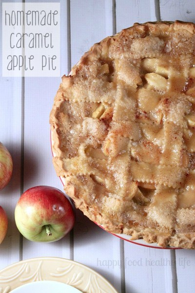 Homemade Caramel Apple Pie from {Happy Food Healthy Life}