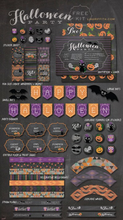 Halloween Party Kit Roundup  -liagriffith.com