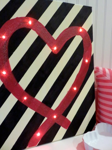 Light Up Heart Valentine's Day Art {Average But Inspired}