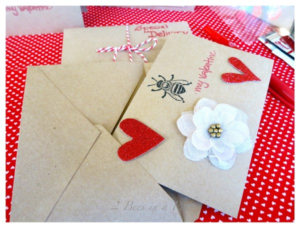 Handmade Valentine's Cards from 2 Bees In A Pod