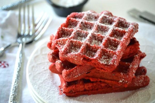 Red-Velvet-Waffles from What The Fork Food Blog