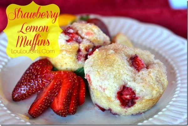 Strawberry-lemon-muffins {Lou Lou Girls}