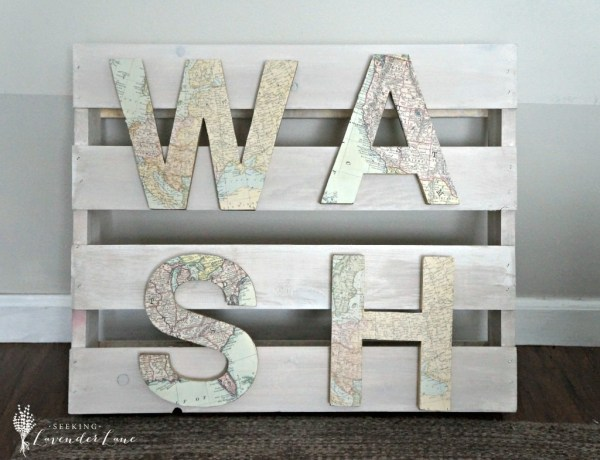 """DIY """"WASH"""" sign {Seeking Lavender Lane}"""