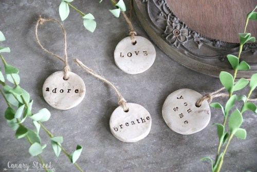 DIY Rustic Air Dry Clay Tags