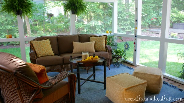 How To Make A Porch Cozy {This Makes That}