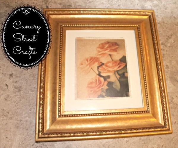 DIY framed burlap JOY sign {Canary Street Crafts}