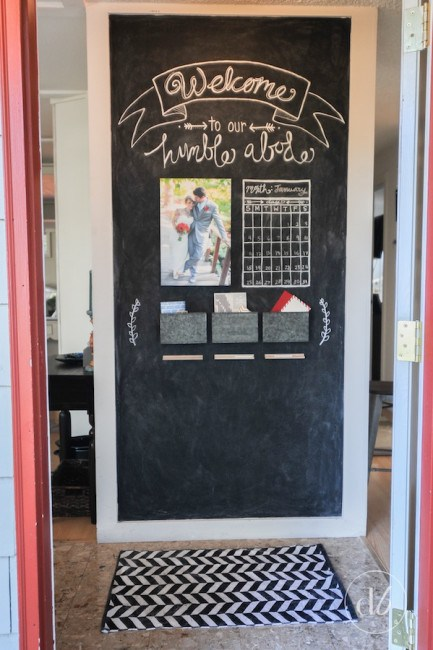 Chalkboard Entryway via Dwell Beautiful