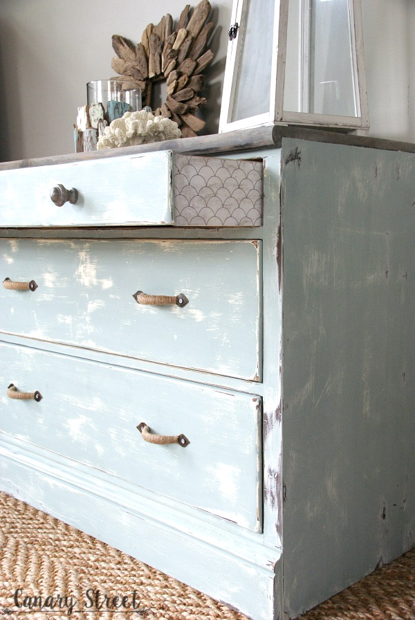 Weathered Coastal Dresser Makeover. Painted With Annie Sloan Chalk Paint  And General Finishes Stain.