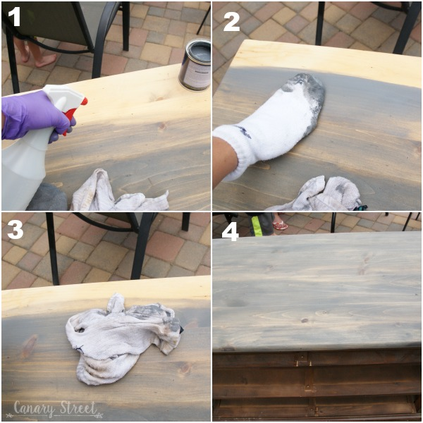 How to create a weathered driftwood look with stain.