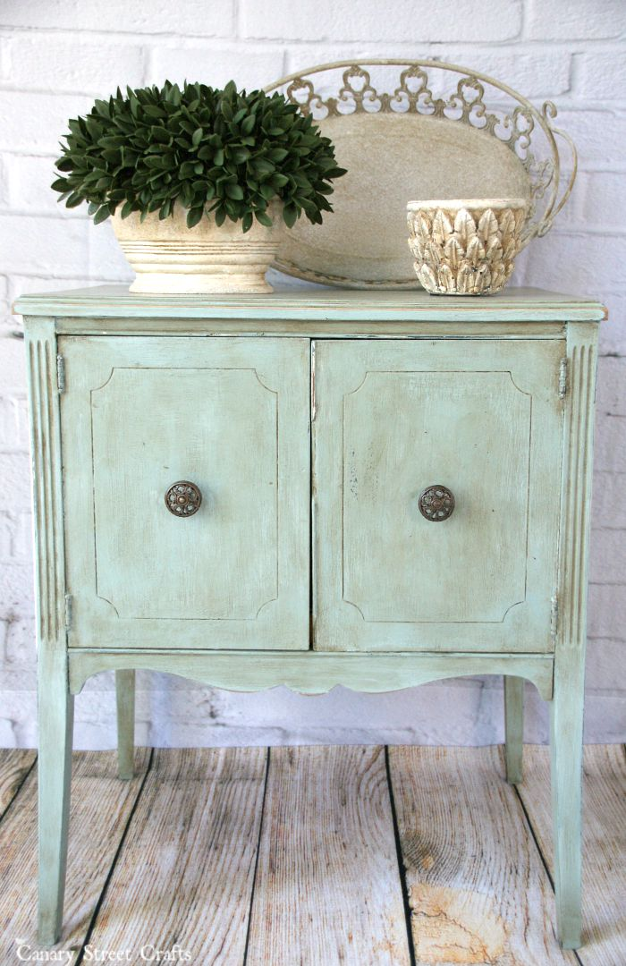 Duck Egg Blue Table  Canary Street Crafts