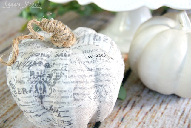Easy Decoupaged Pumpkins , Canary Street Crafts