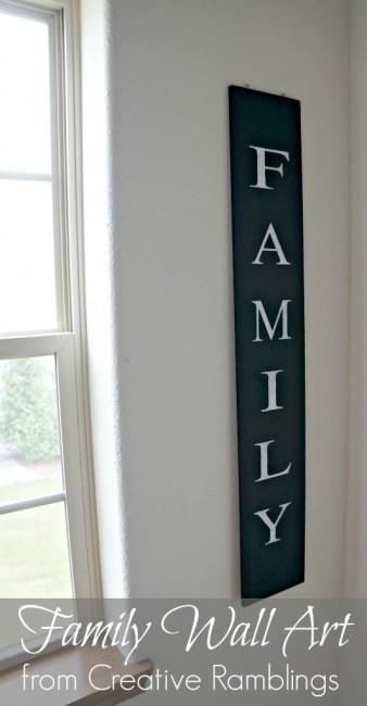 Family Wall Art {Creative Ramblings}