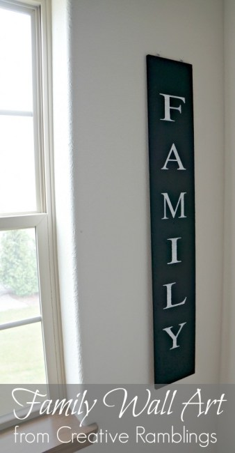 Family Wall Art {Creative Ramblings}