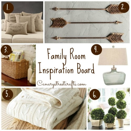 Inspiration for a gorgeous neutral family room! canarystreetcrafts.com