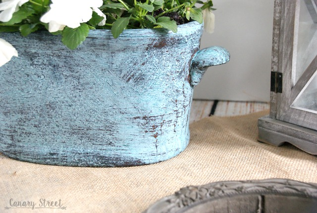 How to create a faux patina finish (the easy way!). https://canarystreetcrafts.com/
