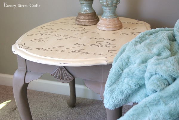 An easy way to add details to furniture using stencils