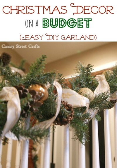 How to make your own inexpensive Christmas garland {Canary Street Crafts}