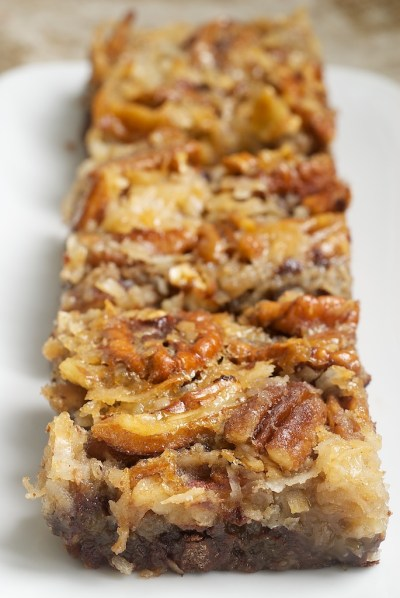 German Chocolate Pecan Pie Bars from {Bake Or Break}